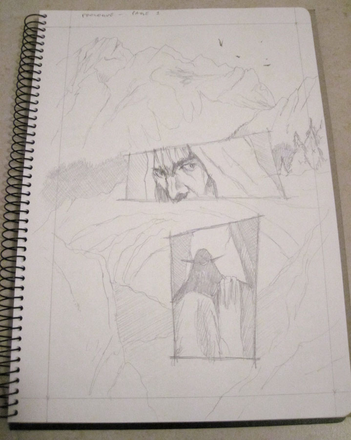 Morlok Issue 2 Rise of the Revenants pencilled internals