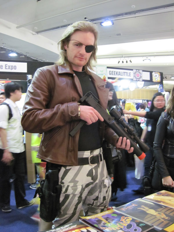 Snake Plissken cosplayer at SMASH! 2013 in August