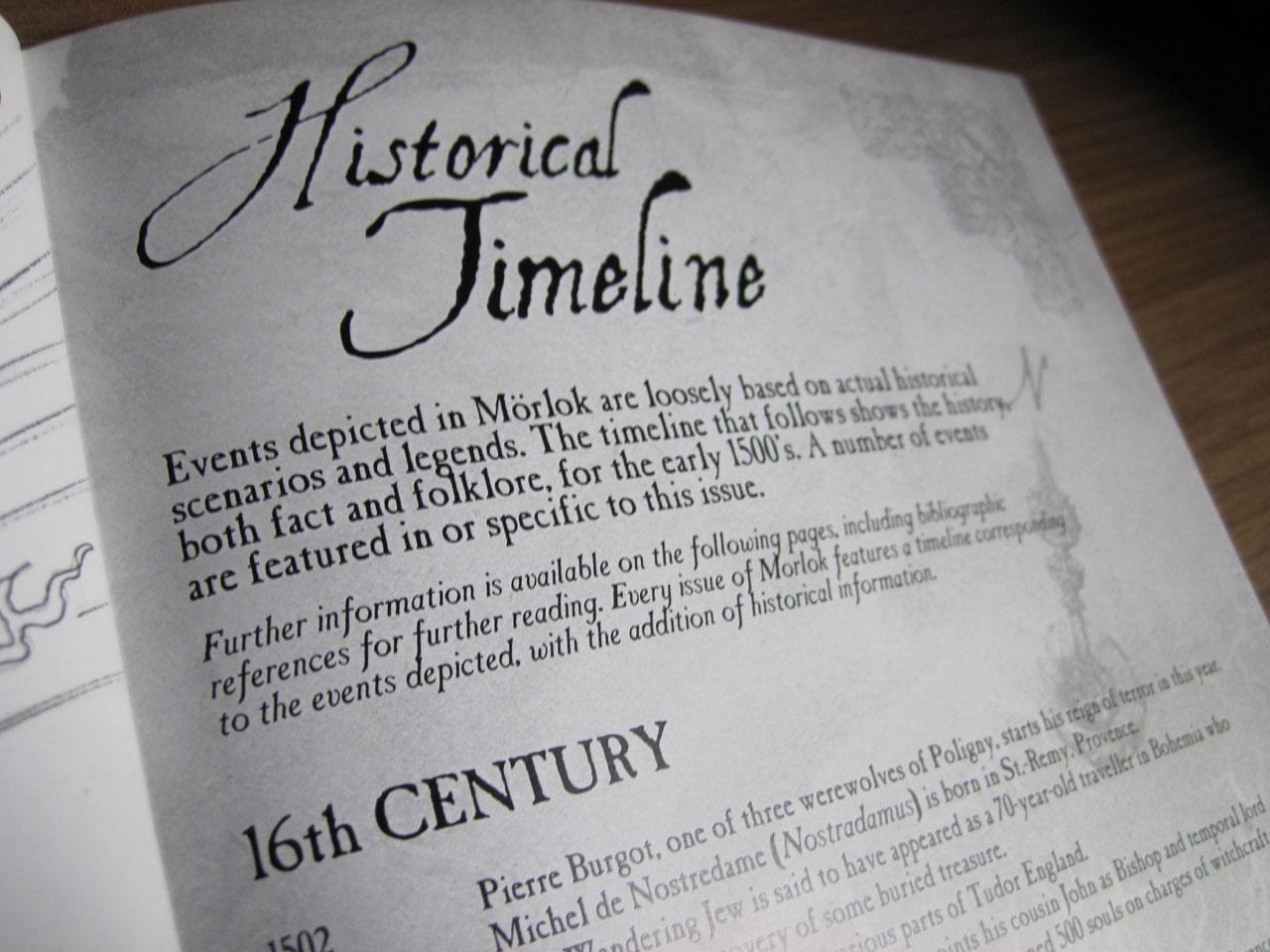 Historical Timeline in Morlok