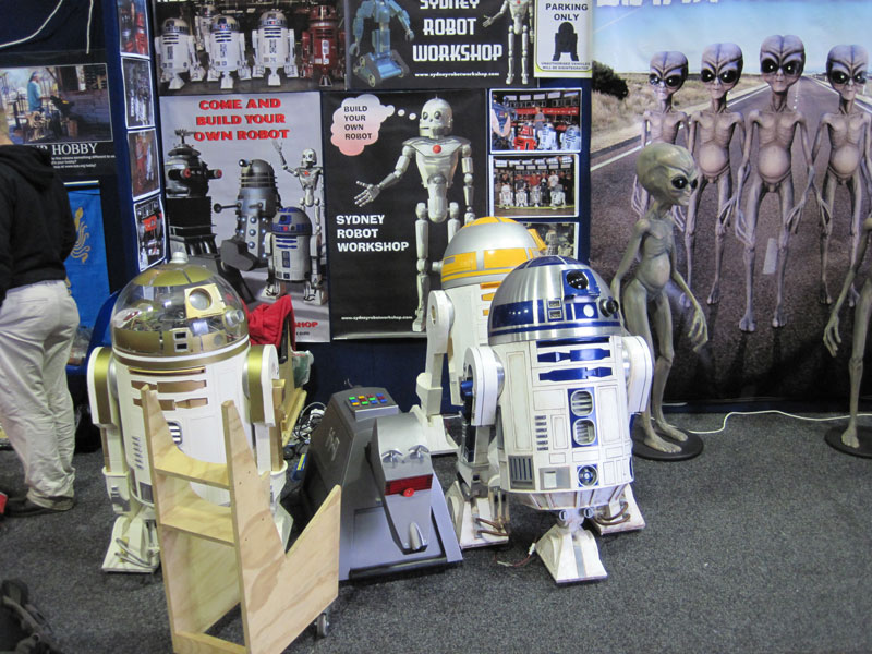 Astromech droids at Supanova 2013